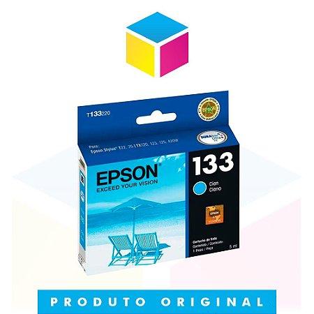 Cartucho de Tinta Epson original 133 T 133 T 1332 Ciano | T 25 TX 125 TX 420 W TX 123 TX 320 F | 5ml