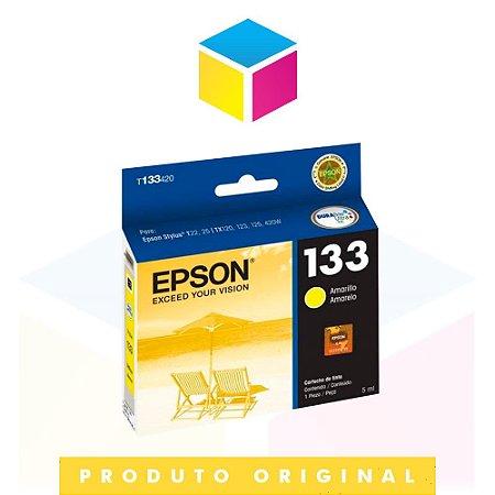 Cartucho de Tinta Epson Original 133 T 133 T 1334 Amarelo Yellow | T 25 TX 125 TX 420 W TX 123 TX 320 F | 5ml