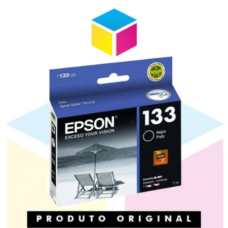 Cartucho Epson 133 | TX 235 W | T133120 Preto Original 7ml