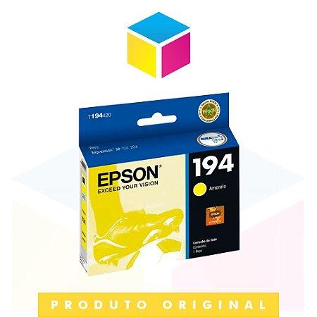 Cartucho de Tinta Epson original 194 T 194420 T 194 Amarelo Yellow | Expression XP 214 XP 104 XP 204 |3ml