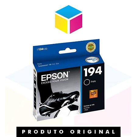 Cartucho de Tinta Epson original preto 194 T 194120 T 194 Preto | Expression XP 214 XP 104 XP 204 | 4ml