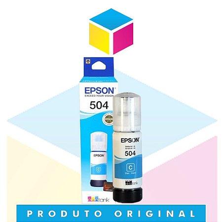 Tinta Epson 504 T 504 Ciano |T 504220 AL T 504220 | L 4150  L 4160  L 6191  L 6161 L 6171 | Original 70ml