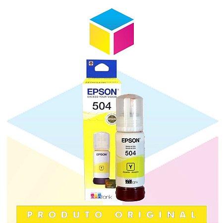 Tinta Epson 504 T 504 Amarelo | T 504420 AL T 504420 | T 504 L 4150 L 4160 L 6191 L 6161 L 6171| Original 70ml