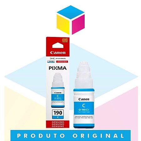 Tinta Canon GL 190 GI-190 C Ciano | Tanque de Tinta Pixma Maxx G 1100 G2 100 G3 100 G 3102 G 4100 | Original 70ml