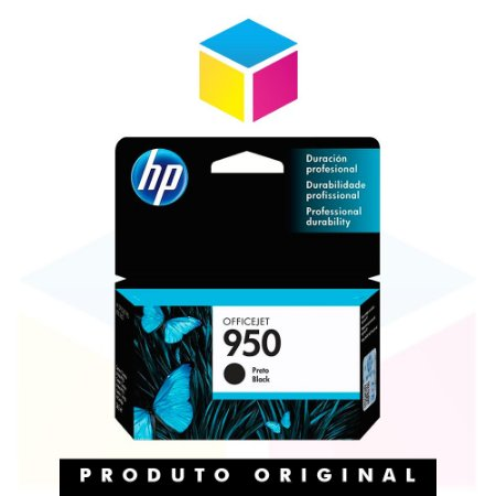 Cartucho de Tinta HP 950 CN049AL Preto | Officejet 8610 8620 8100 8600 Plus 8630 | Original 24ml