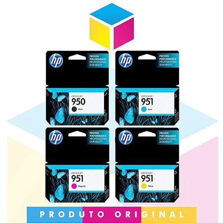 Kit Cartucho HP 950 Preto 24 ml + HP 951 Ciano 8 ml + HP 951 Magenta 8 ml + HP 951 Amarelo 8 ml   Officejet 8610 8620 8100 8600 Plus 8630   Original