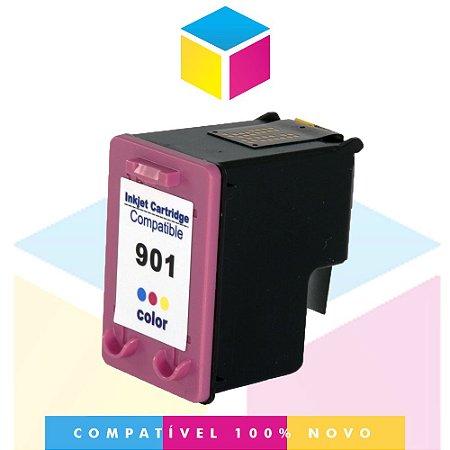 Cartucho de Tinta Compatível com HP 901 XL 901 CC 656 AB Colorido | J 4580 J 4680 J 4660 J 4500 J 4550 | 12ml