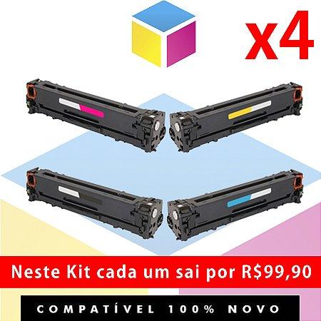 Kit Toner Compatível HP CF 510 A Preto + HP CF 511 A Ciano + HP CF 512 A Amarelo + HP CF 513 A Magenta | M 154 M 180 M 181 154 A 154 NW 180 N 180 NW 181 FW