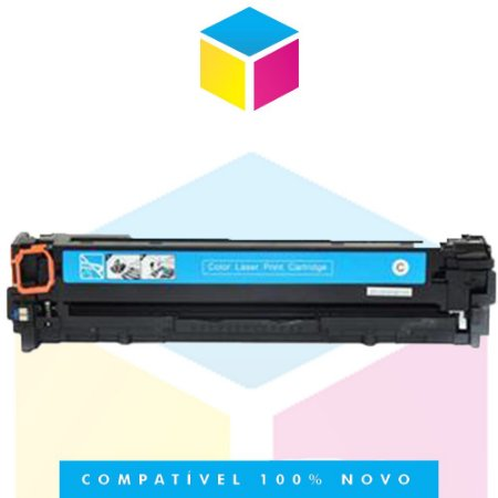 Toner Compatível HP CF 381 A 312 A Ciano | M 476, M 476 NW, M 476 DW | 2.8k