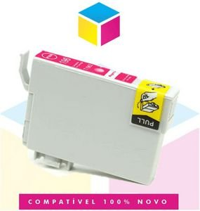 Cartucho de Tinta Epson Compatível 133 T 133 T 1333 Magenta   T 25 TX 125 TX 420 W TX 123 TX 320 F   8ml