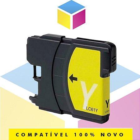 Cartucho De Tinta Brother LC-61Y LC-61 Amarelo Yellow Compatível | MFC-990CW MFC-490CW DCP-585CW | 13 ml