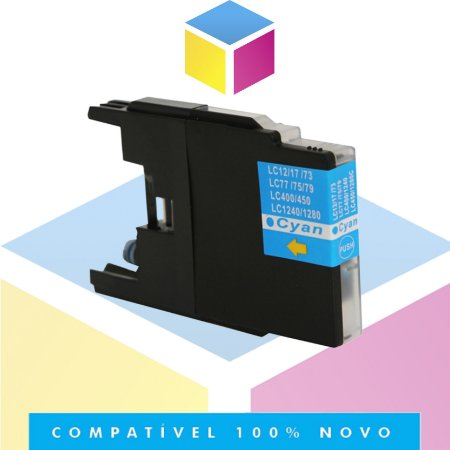 Cartucho de Tinta Brother LC-75C LC-79C Ciano Compatível | MFC-J6910DW MFC-J430W MFC-J6710DW | 13ml