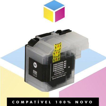 Cartucho de Tinta Brother LC-509BK LC509 Preto Compatível | DCP-J100 DCP-J105 MFC-J200 | 50ml