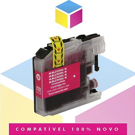 Cartucho de Tinta Brother LC-505M LC505 Magenta Compatível | DCP-J105 DCP-J100 MFC-J200 | 11ml
