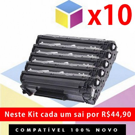 Kit com 10 Toner Compatível HP CE 285 A 285A CE 285 AB | P 1006 912 3010 3018 | 1.8k