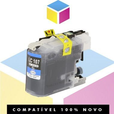 Cartucho de Tinta Compatível com Brother LC 103BK LC 107BK Preto | 4310DW 4510DW 4710DW 4410DW | 20ml
