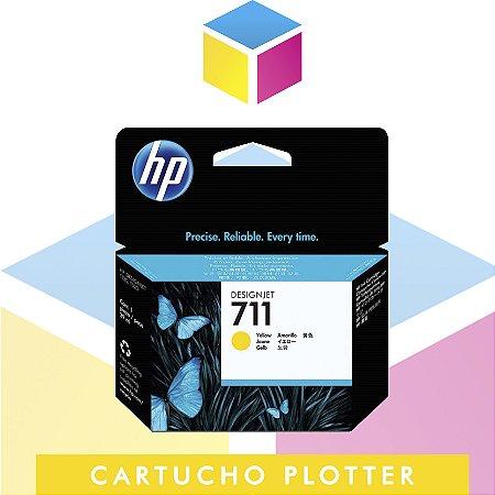 Cartucho de Tinta HP 711 Amarelo CZ132A Original | Plotter T120 T520 CQ891A CQ890A CQ893A | 29ml