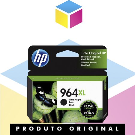 Cartucho de Tinta HP 964 XL Preto | 9010 9020 3JA57A  9020 | Original 48ml