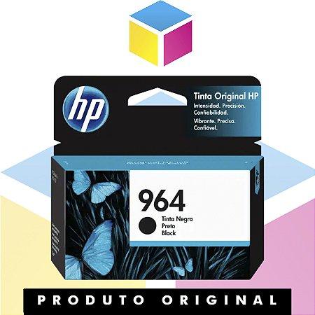 Cartucho de Tinta HP 964 Preto | 9010 9020 3JA53AL | Original 26 ml