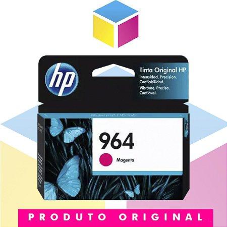 Cartucho de Tinta HP 964 Magenta   9010 9020 3JA51AL   Original 11 ml