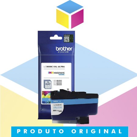 Cartucho de Tinta Brother LC3039C LC 3039 Ciano | J5845 J5945 J6545 J6945 | Original 5k