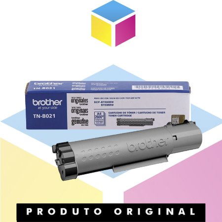 Toner Brother TN B021 Preto | DCP-B7520DW B7520DW DCP-B7535DW B7535DW | Original 2.6K