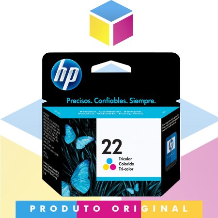 Cartucho de Tinta Original HP 22 Colorido | C9352AB C9352A | 6 ml