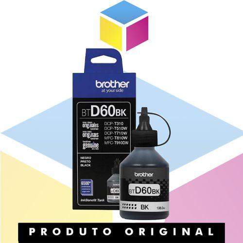 Tinta Brother BTD60BK BT-D60 Preto Original | MFC-T810W MFC-T4500DW MFC-T910DW HL-T4000DW | 108ml