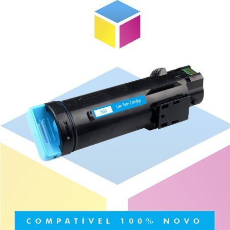 Toner Compatível Xerox XP6510 Ciano   Phaser 6510 Workcentre 6515n   2.4K