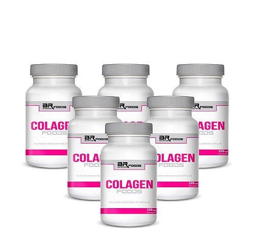 6x Colageno BRN Foods - 100 Caps