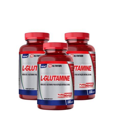 3x L - GLUTAMINA (150G cada)