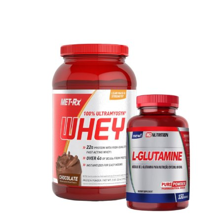 100% Ultramyosyn Whey (900g) e Glutamina (150g) - Met rx