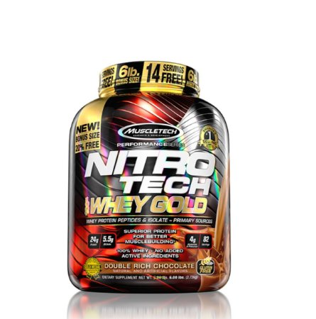 Nitrotech 100% Whey Gold (2,72kg) - Muscletech