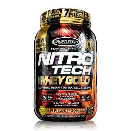 Nitro Tech 100% Whey Gold (1,kg) - MuscleTech
