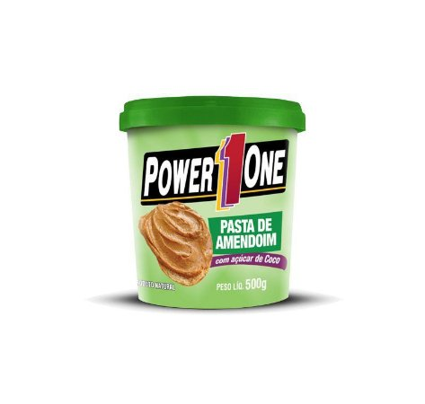 PASTA DE AMENDOIM - POWER ONE (500G) C/ Açúcar De Coco