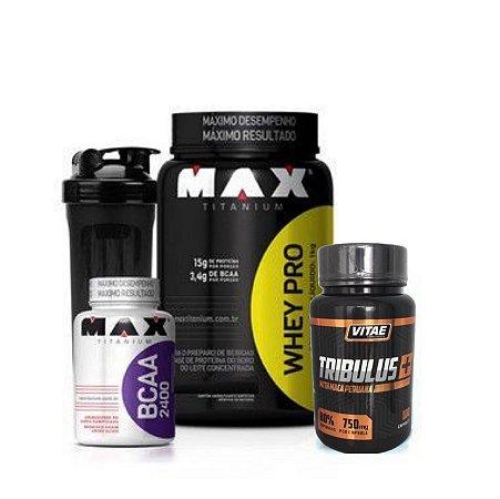 Combo Testo Pro (1kg) - Max Titanium