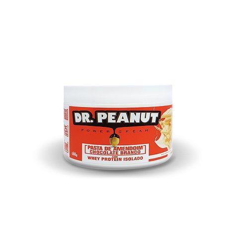 Pasta de Amendoim Chocolate Branco com Whey Protein (500g) - Dr. Peanut