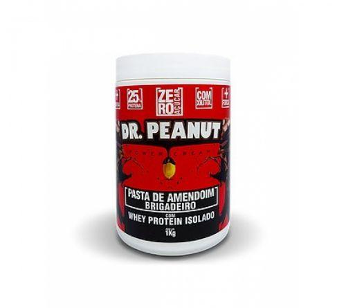 Pasta de Amendoim Brigadeiro com Whey Protein (1Kg) - Dr. Peanut