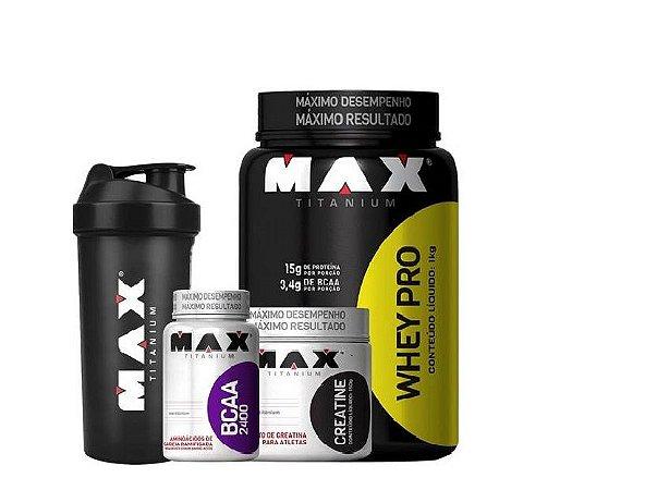 Whey Protein + Bcaa + Crea - Max Titanium