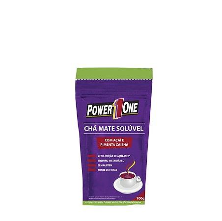 Chá Mate Solúvel com Açaí e Pimenta Caiena (100g) - Power One