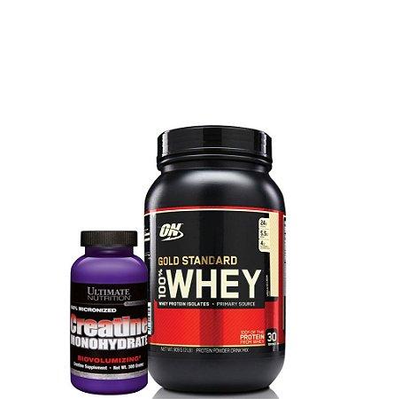 WHEY GOLD (900g) + C. (300g) Combo - Optimum Nutrition