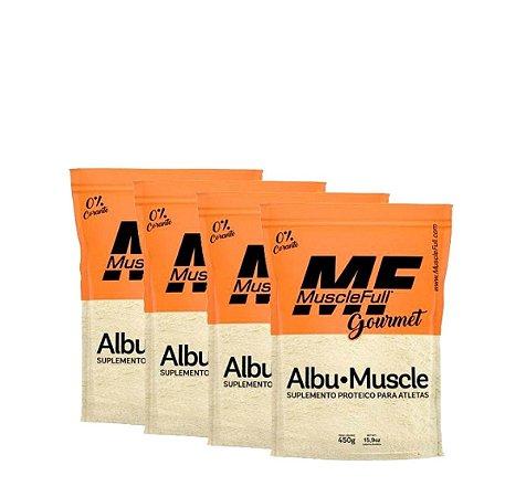 4X ALBUMUSCLE (450g cada) - MUSCLEFULL