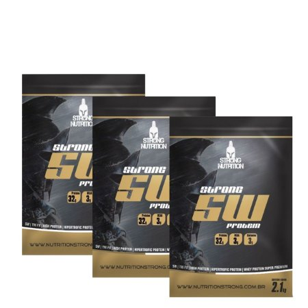3x WHEY 5W (2,1KG cada) - STRONG NUTRITION