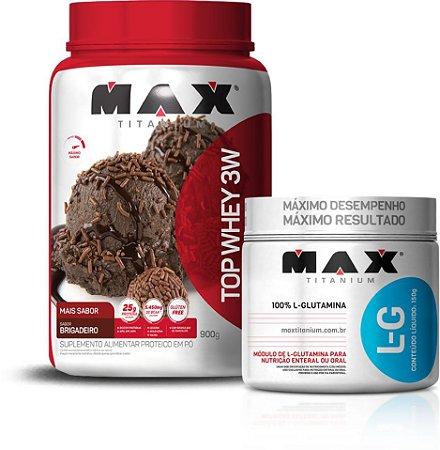 Mega Combo Glutamina e 3w - Max Titanium