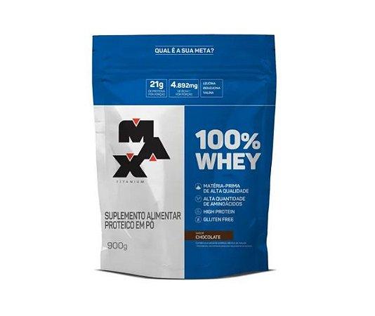 100% Whey Chocolate 900g - Max Titanium