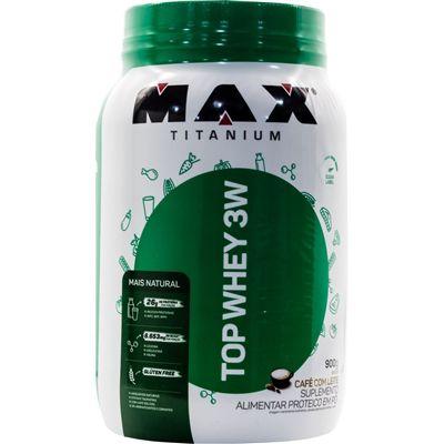 Whey Protein Top Whey 3W Mais Natural 900 g - Max Titanium - Morango