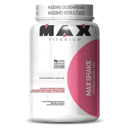 MAX SHAKE (400G) MORANGO - MAX TITANIUM