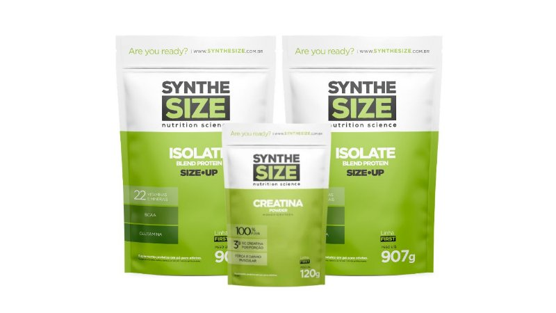 Combo 2 Whey Isolate 907g + Creatina + Brinde  - Synthesize