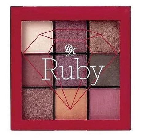 Paleta de Sombra 9 cores - Rk Kiss - Ruby