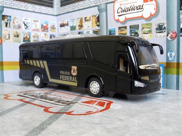 Miniatura Ônibus Polícia Federal - Em Metal